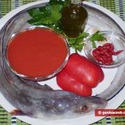 Ингредиенты для конгрио в соусе