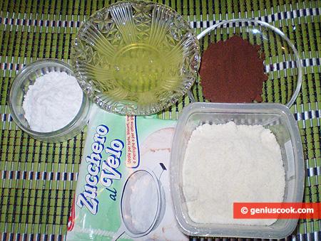 Ингредиенты для шоколадного миндального печенья