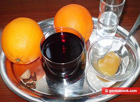 Ингредиенты для Апельсинового Глинтвейна