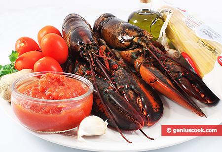 Ингредиенты для Спагетти алла Арагоста