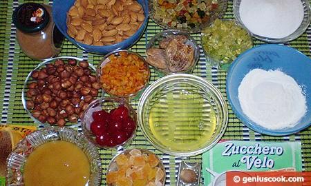 Ингредиенты для Панфорте Маргарита