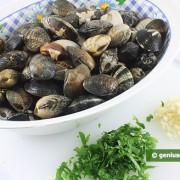 Ингредиенты для спагетти с вонголе