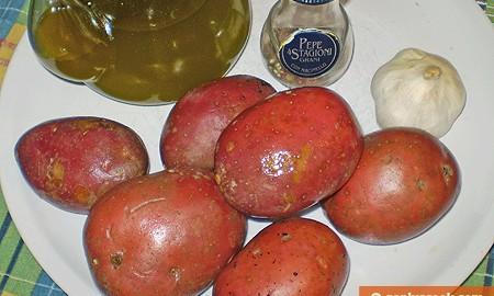 Ингредиенты для печёной картошки по-шведски
