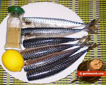 Ингредиенты для пряной скумбрии на пару
