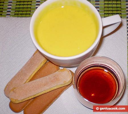 Ингредиенты для десерта Тирамису в бокале
