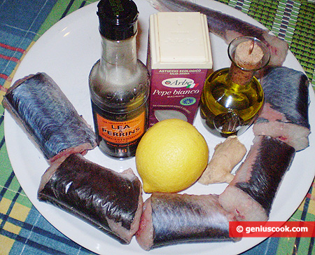 Ингредиенты для жареного угря под маринадом