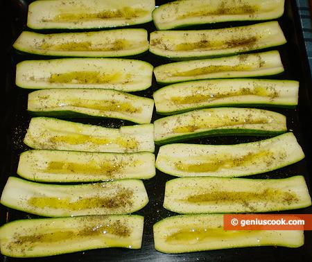 Лодочки цуккини с маслом и базиликом