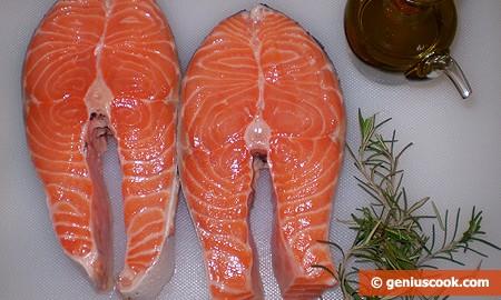 Ингредиенты для лосося с розмарином