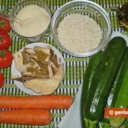 Ингредиенты для фаршированных цуккини