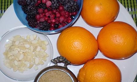 Ингредиенты для Апельсиново-ягодного киселя