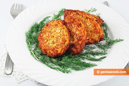 Рисовые оладьи с сыром