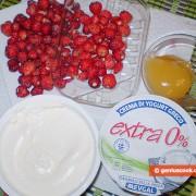 Ингредиенты для десерта с земляникой и рикоттой