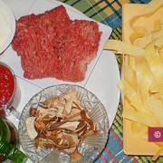 Ингредиенты для Папарделле с мясным соусом и рикоттой