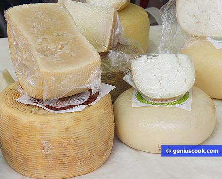 Разные виды овечьего сыра