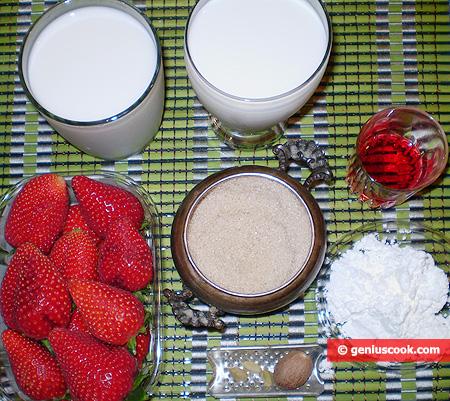 Ингредиенты для Малаби с клубникой