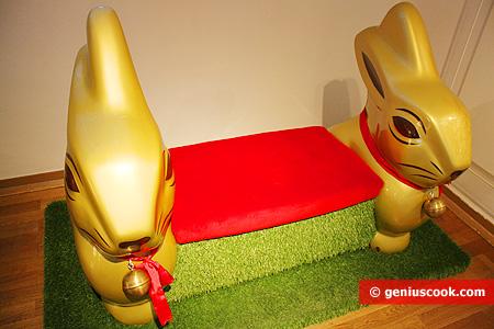 Диванчик с Шоколадными Рождественскими кроликами
