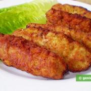 Куриные котлеты с сыром и песто