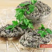 Брускетта с грибами и сливочным сыром