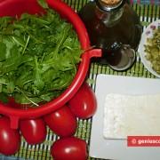 Ингредиенты для салата из рукколы