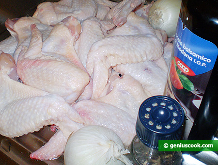 Ингредиенты для куриных крылышек гриль