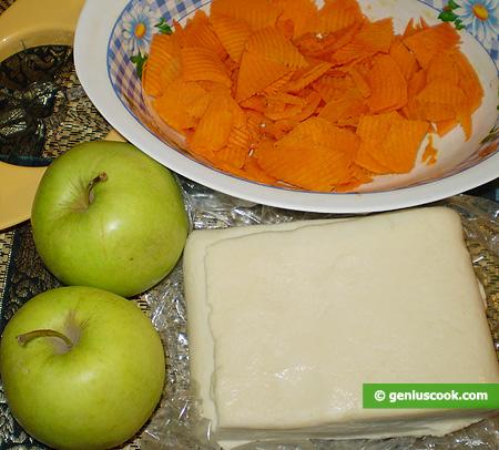 Ингредиенты для Кростаты с яблоками и тыквой