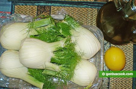 Ингредиенты для салата из фенхеля