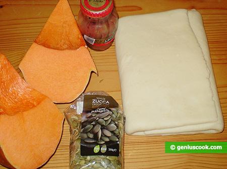 Ингредиенты для пирога кростата с тыквой
