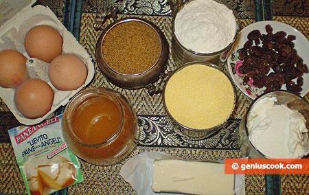 Ингредиенты для Кукурузных кексов