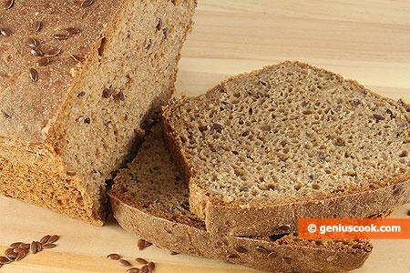 Ржаной хлеб на закваске с льняными семечками