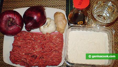 Ингредиенты для тибетских момо