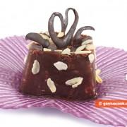Шоколадно-сливовый пудинг