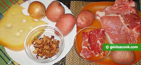 Ингредиенты для свинины в горшочках