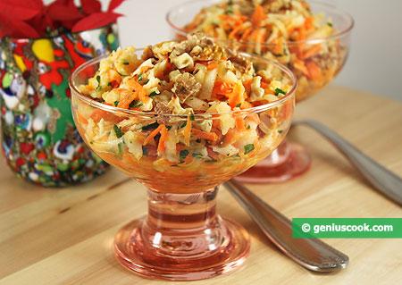 Салат из топинамбура с морковью и орехами