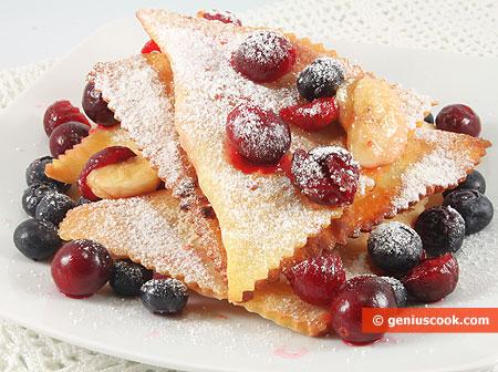 Печенье Хворост с фруктовой начинкой