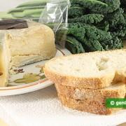 Ингредиенты для брускетты с чёрной капустой и сыром