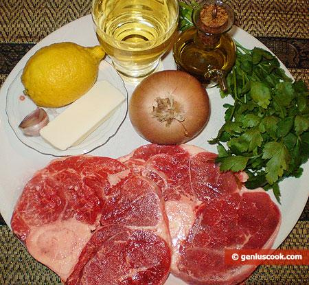 Ингредиенты для Оссобуко по-милански
