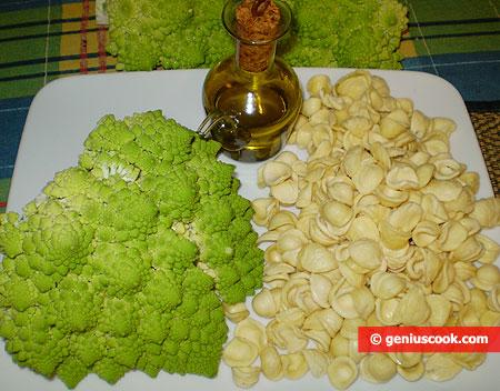 Ингредиенты для Орекьетте с романеско