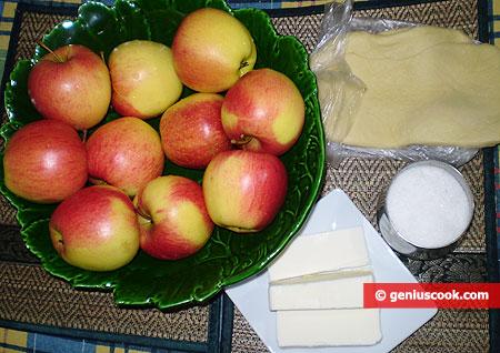 Ингредиенты для пирога Тарт Татен