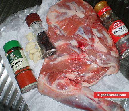 Ингредиенты для плеча барашка в духовке