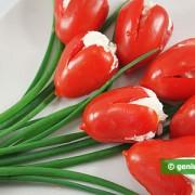 Закуска из помидоров Тюльпаны
