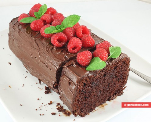 Шоколадный Кекс с Малиной