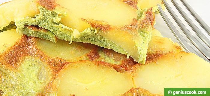 Фриттата с Картофелем и Песто