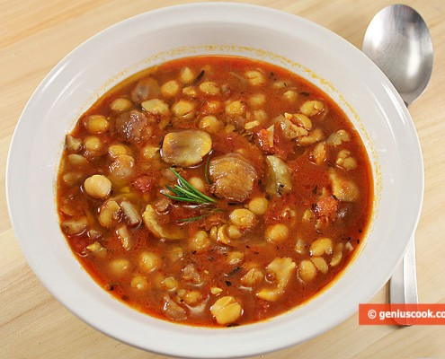 Итальянский Суп из Каштанов и Нута