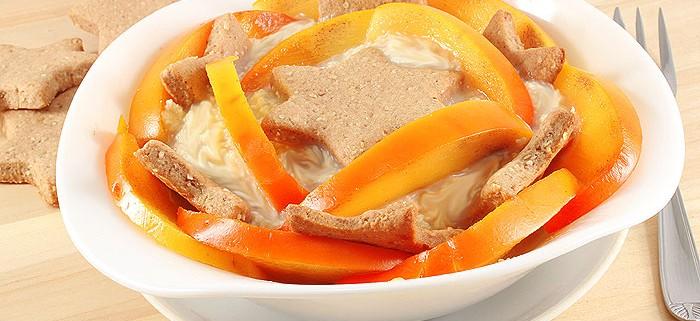 Десерт с Каштановым Кремом, Хурмой и Печеньем