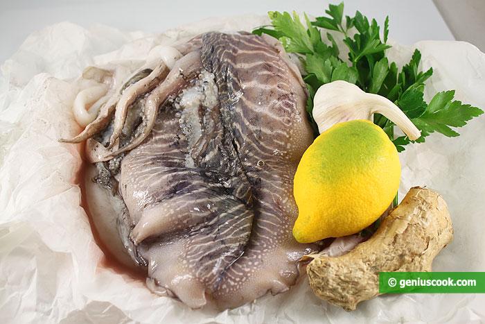 Ингредиенты для каракатицы с лимоном