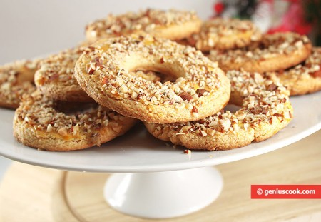 песочные кольца с орехами рецепт с фото