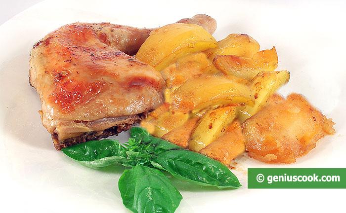 Курица в Сливках, Запечённая с Картофелем