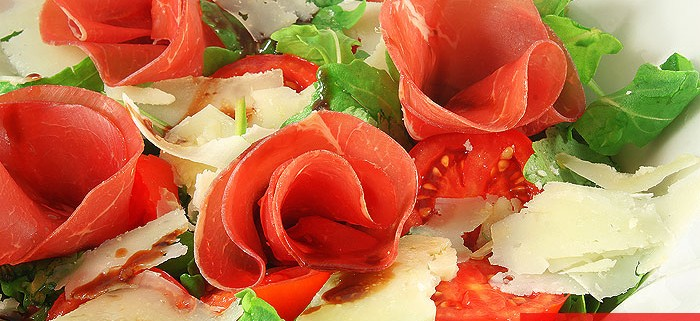 Итальянский Салат из Рукколы с Брезаолой