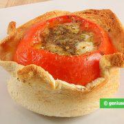 помидоры с сыром запеченные в хлебе