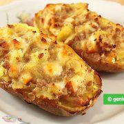 Картошка Запеченная с Сыром и Мясом